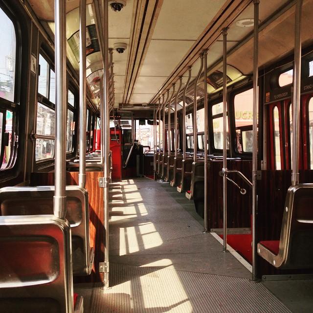 A streetcar to myself.