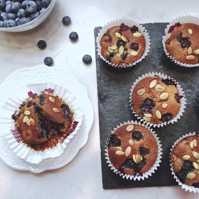 Blueberry-Almond Muffins