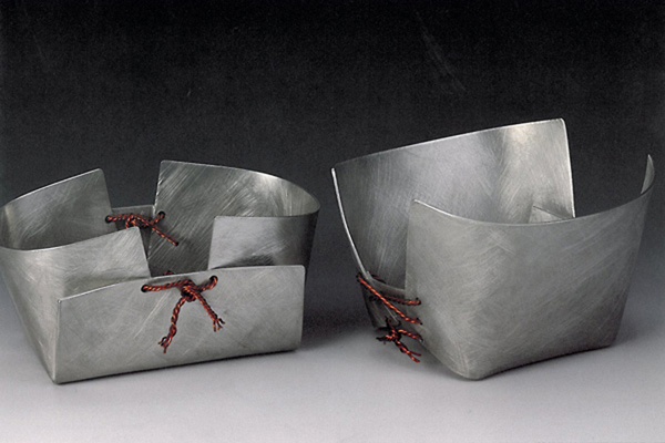 Two Containers  , 1992, pewter and copper, 4x8x5 inches