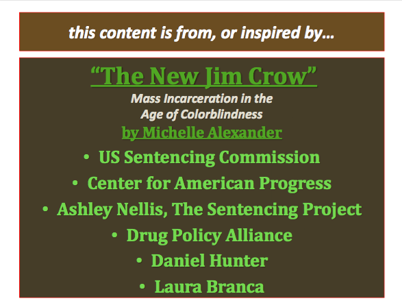 THE NEW JIM CROW By Michelle 26