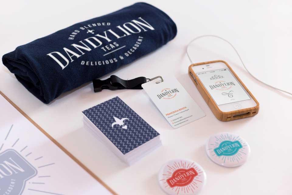 Dandylion hand blended teas, logo design and branding design by Ditto Creative, branding agency Kent