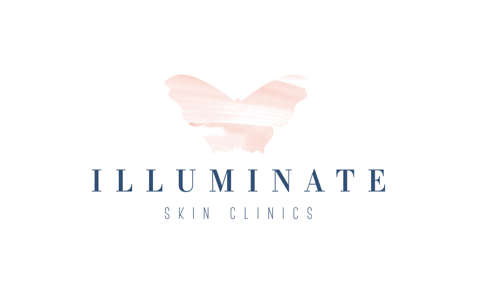 logo design for Illuminate Skin Clinics, Aesthetic doctor, logo design by Ditto Creative, Kent