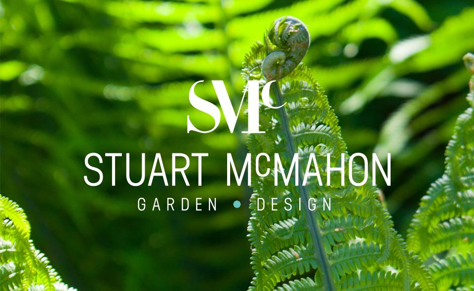 Logo design for Stuart McMahon Garden design by Ditto Creative, branding Kent