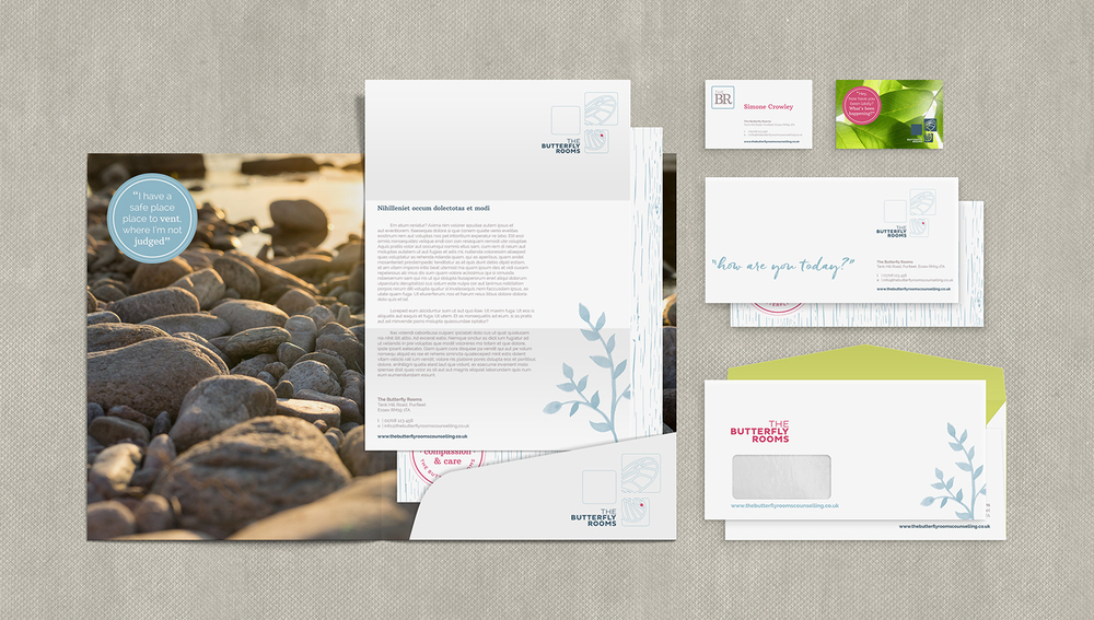 The Butterfly Rooms branding design by Ditto Creative, branding agency Kent