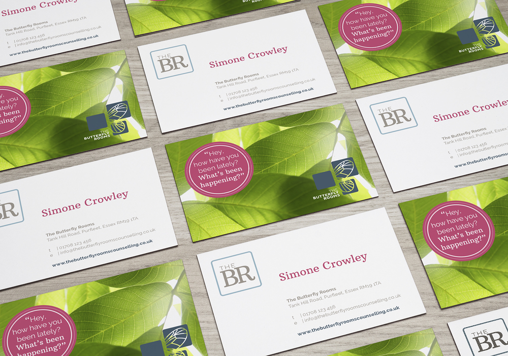 The Butterfly Rooms branding and logo design by Ditto Creative, branding agency Kent