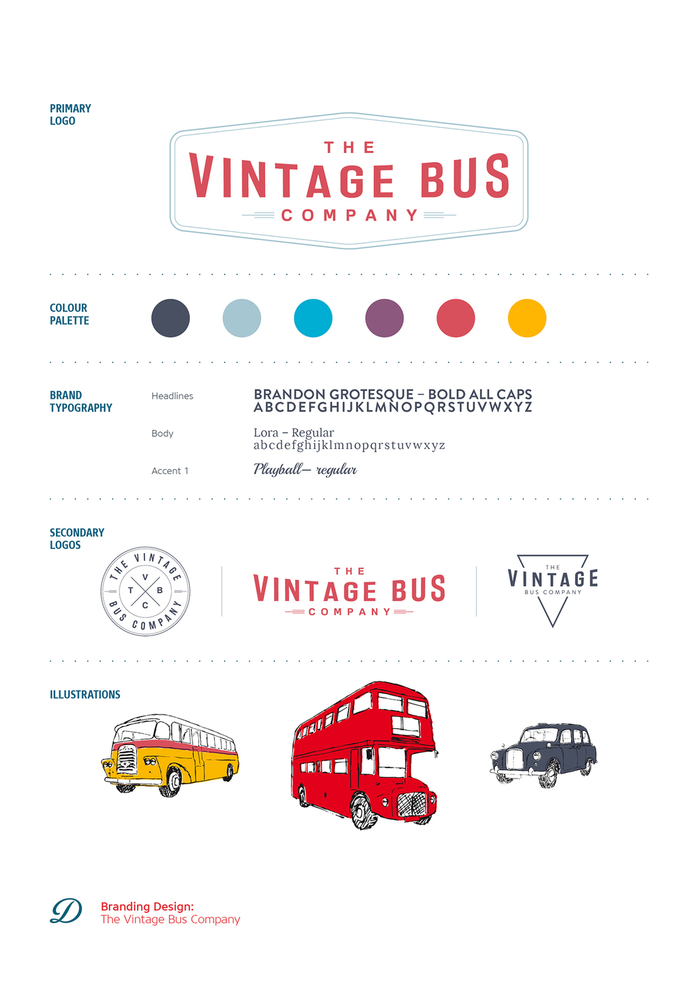 The Vintage Bus Company logo design and branding by Ditto Creative, branding agency Kent