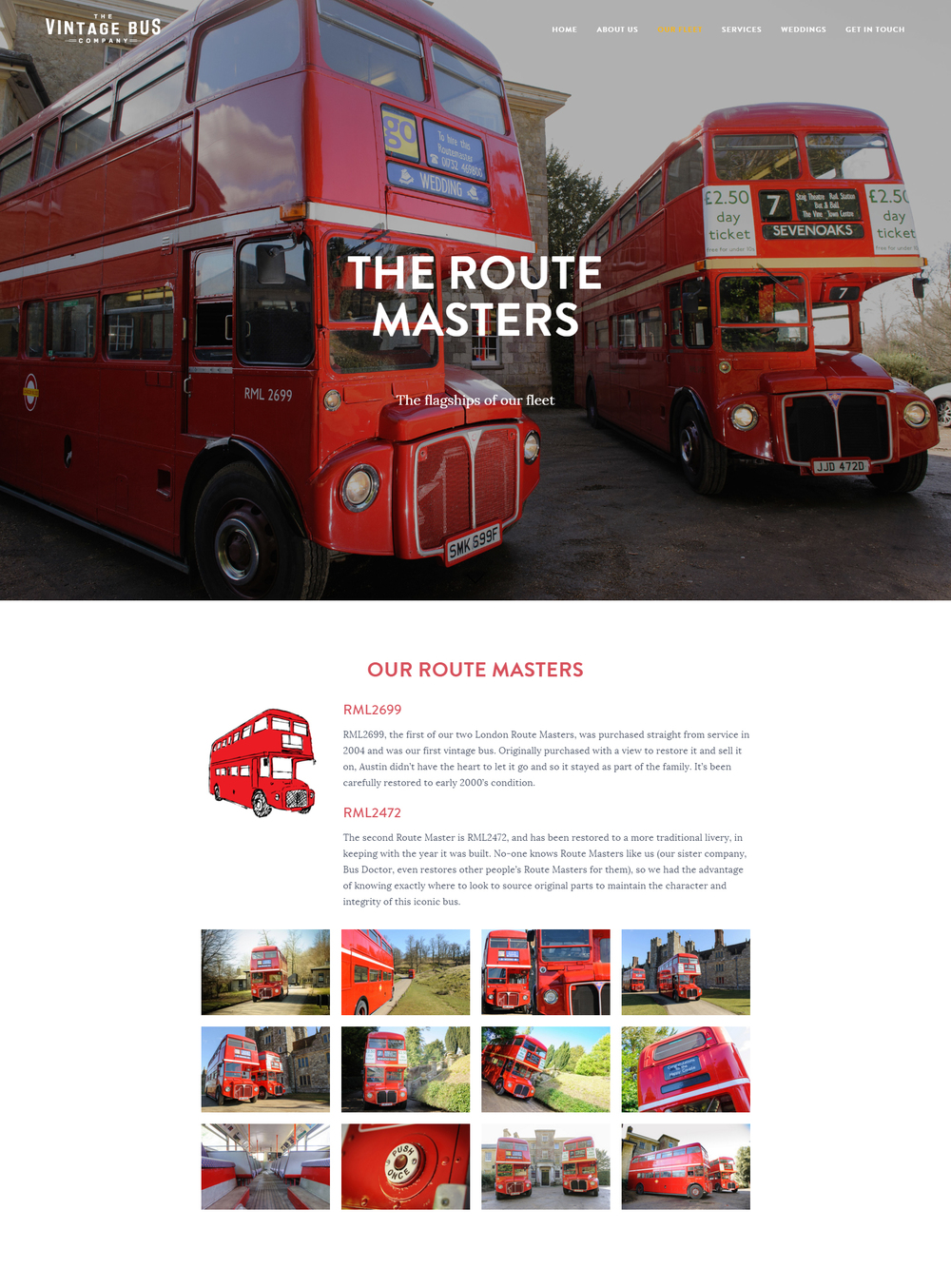 The Vintage Bus Company website design by Ditto Creative, branding agency Kent