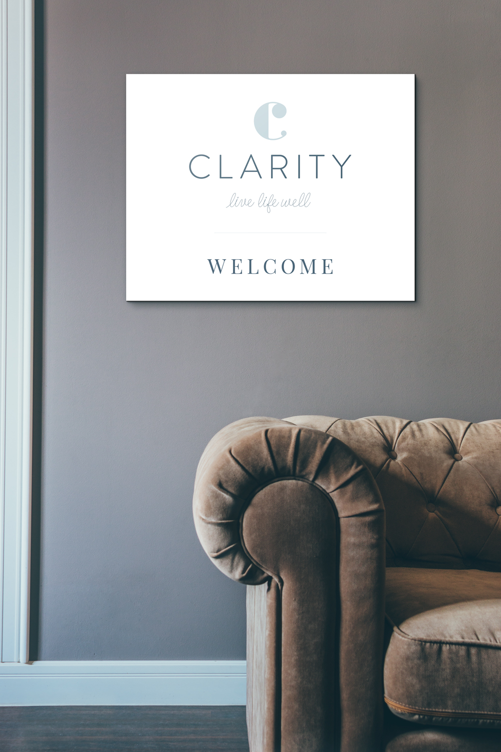 Clarity logo design and brand identity by Ditto Creative, branding agency Kent