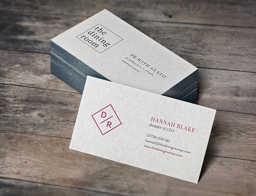 The Dining Room PR Tunbridge Wells, logo and brand design by Ditto Creative, branding agency Kent