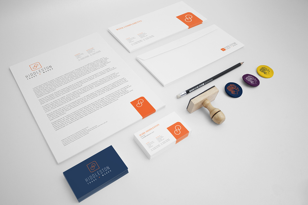 Hiddleston Trade Marks logo design and branding by Ditto Creative, branding agency Kent