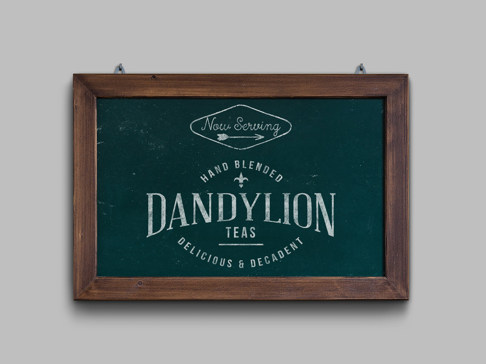 Dandylion Tea logo design and branding by Ditto Creative, branding agency Kent