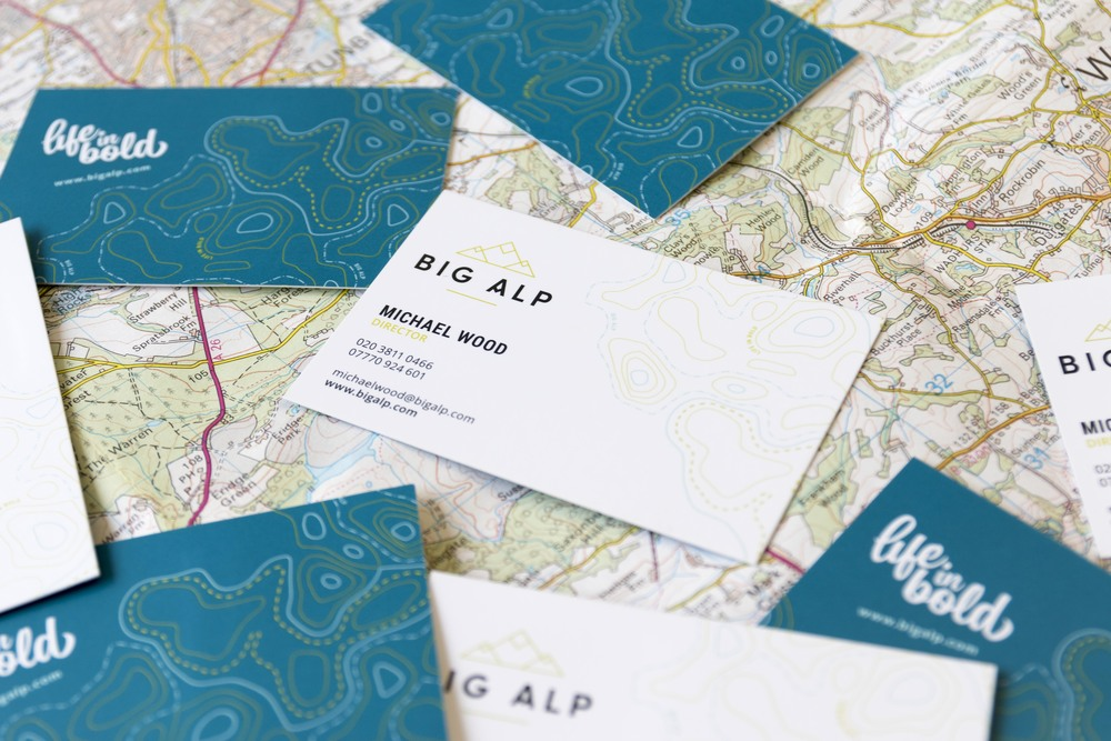 Big Alp TV production, logo design and branding by Ditto Creative, branding agency Kent