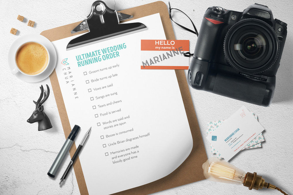 Marianne Chua Photography logo design, branding and brand identity by Ditto Creative, branding agency Kent