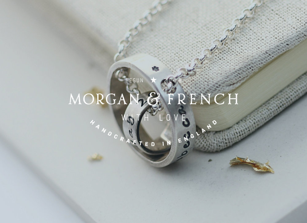 Morgan & French jewellery designers, Bedfordshire logo design and branding by Ditto Creative, branding design Kent