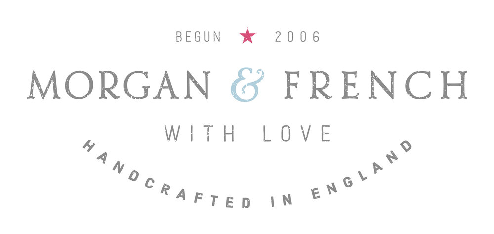 Morgan & French logo design and branding by Ditto Creative, brand stylists, London