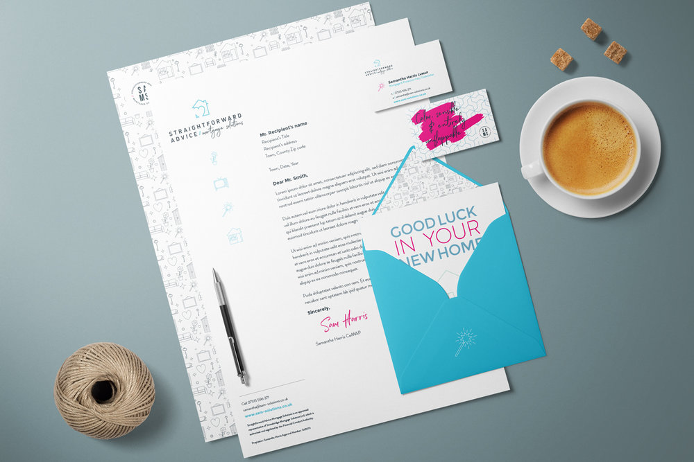 Straightforward Advice Mortgage Solutions, brand identity and logo design by Ditto Creative, boutique branding agency Kent
