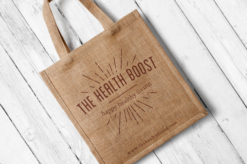 The Health Boost lifestyle and nutrition blog, logo design and brand identity by Ditto Creative, boutique branding agency Kent