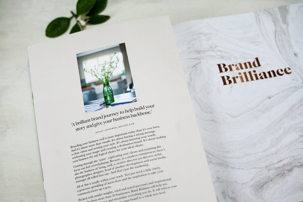 Brand Brilliance, the new book by Fiona Humberstone, The Brand Stylist