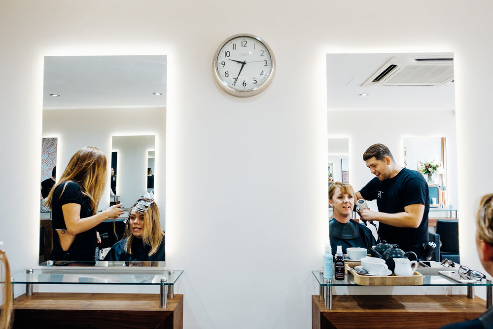Tribe hair salon Chislehurst, branding by Ditto Creative, photography by Marianne Chua