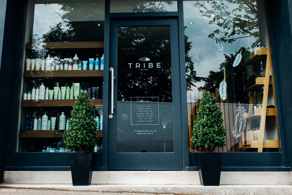 Tribe hairdressers in London and Kent, Aveda Salon, logo design and branding by Ditto Creative, branding agency in Kent, photography by Marianne Chua