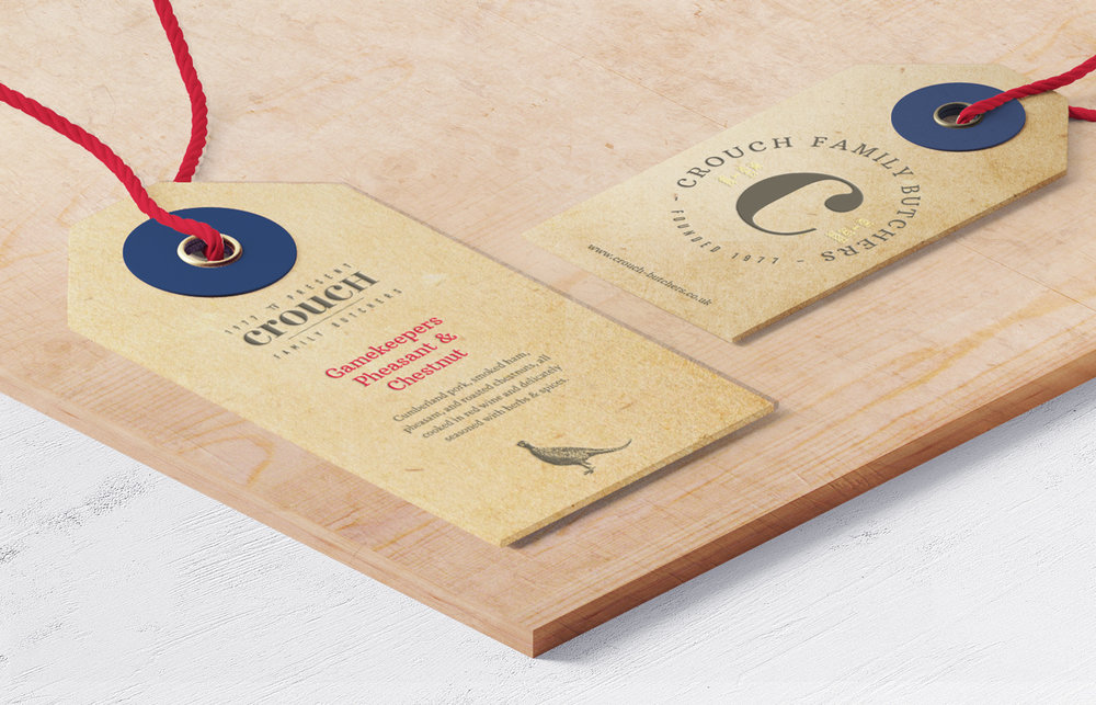 Crouch independent family butcher Kent, logo design and branding by Ditto Creative, branding agency Kent