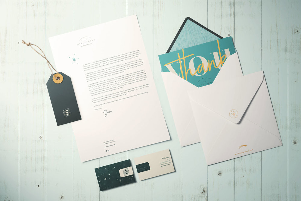 Daria Nova Photography, logo design and brand styling by Ditto Creative, boutique branding agency Kent
