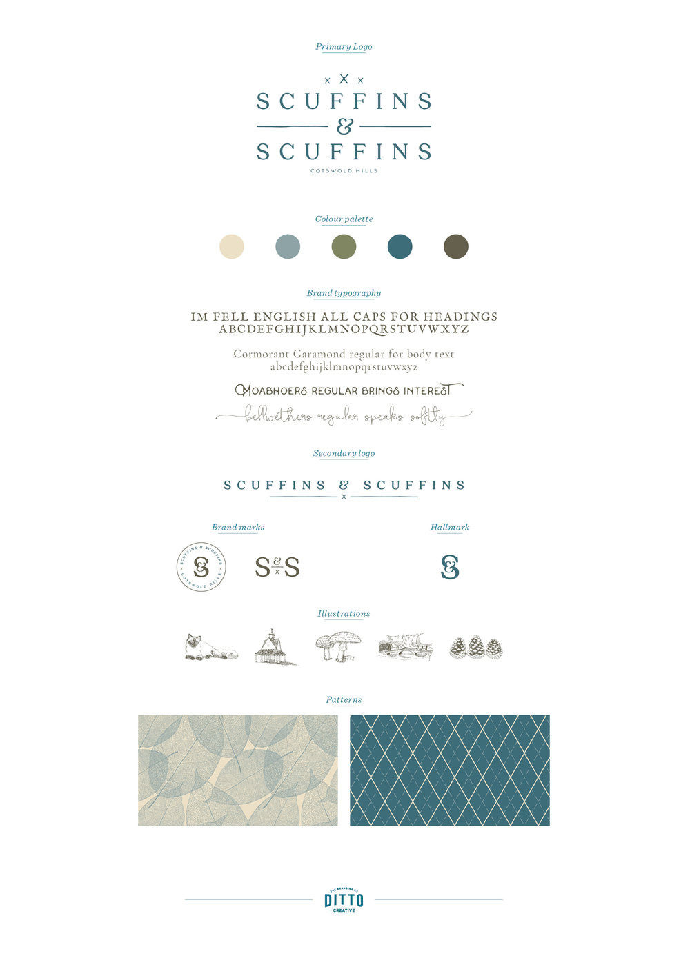 Scuffins and Scuffins logo design and brand identity by Ditto Creative, branding agency Kent