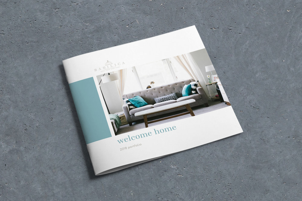 Basilica home improvements, logo design and brand identity by Ditto Creative, boutique branding agency kent