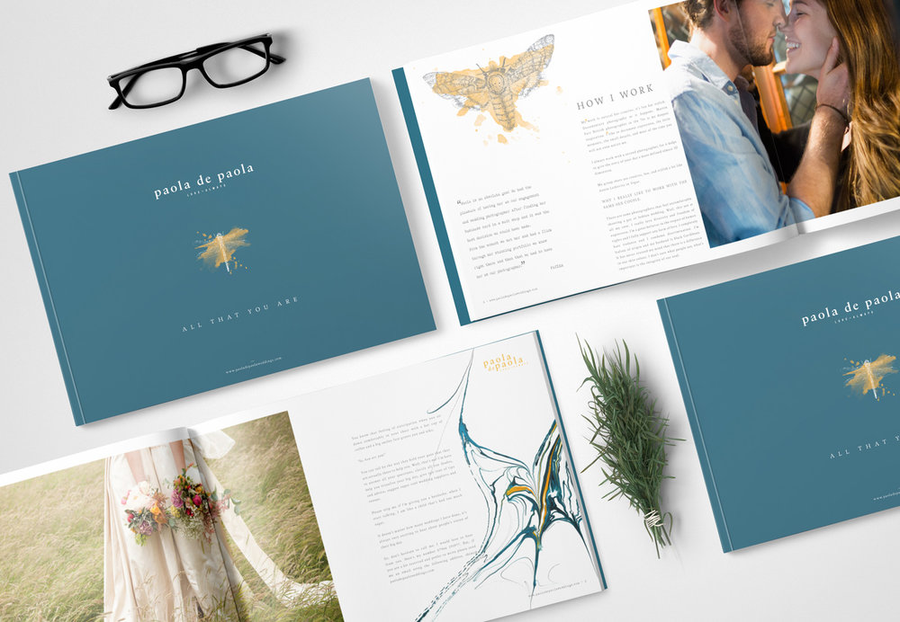 Paola De Paola Wedding photographer, logo design and brand identity by Ditto Creative, boutique branding agency Kent