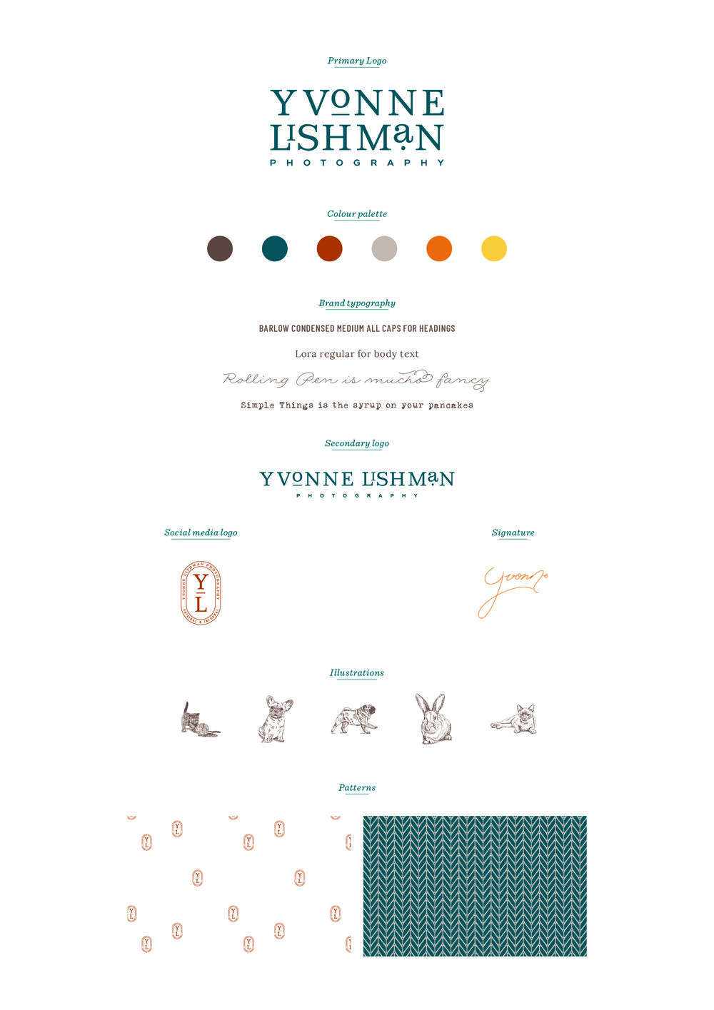 Yvonne Lishman Photography logo design and brand identity by Ditto Creative, branding agency Kent