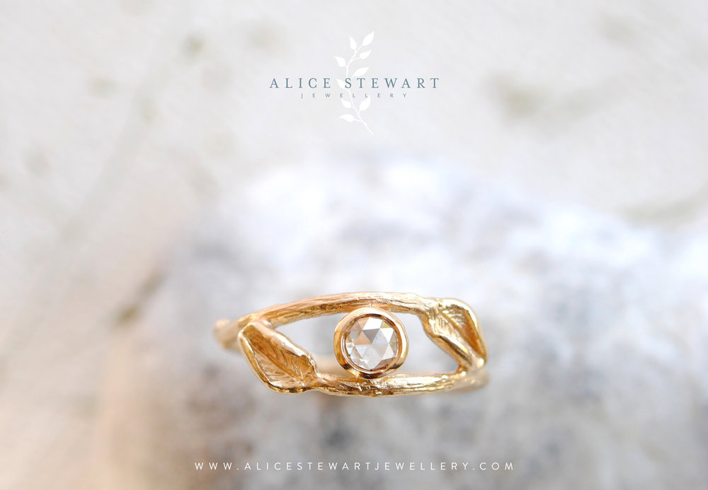 branding for Alice Stewart nature inspired jewellery designer