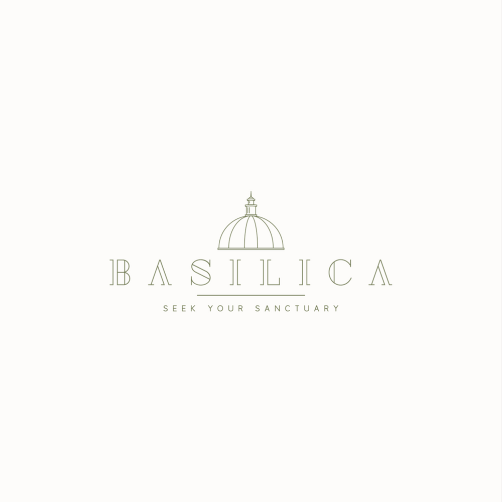 Basilica logo design by Ditto Creative | boutique branding agency in Kent | Logo design and brand identity for small businesses