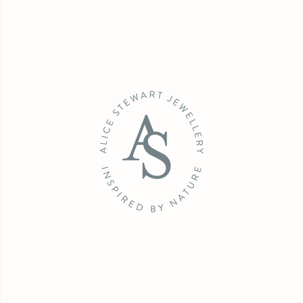 Alice Stewart Jewellery logo design by Ditto Creative | boutique branding agency in Kent | Logo design and brand identity for small businesses