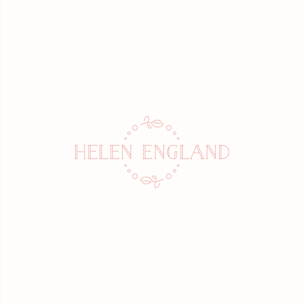 Helen England Photography logo design by Ditto Creative | boutique branding agency in Kent for small businesses
