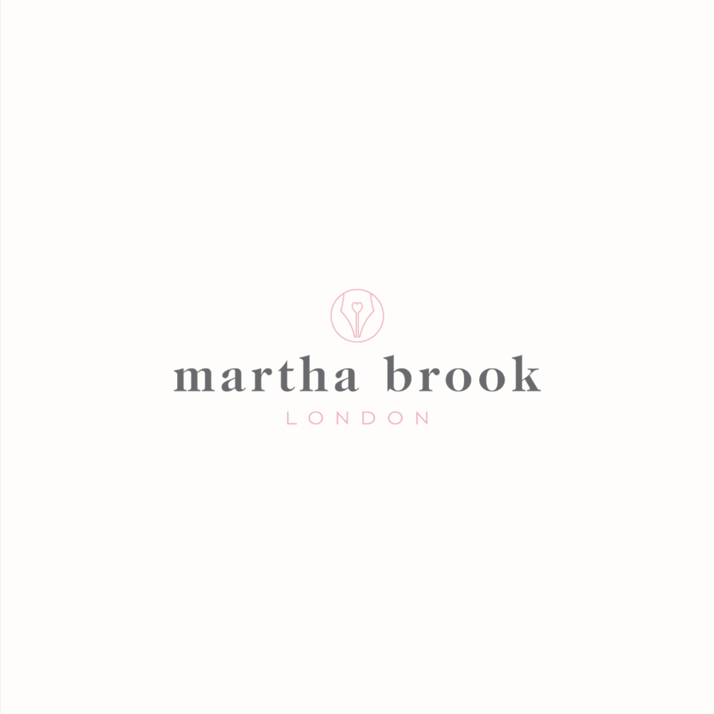 Martha Brook logo design by Ditto Creative | boutique branding agency in Kent for small businesses