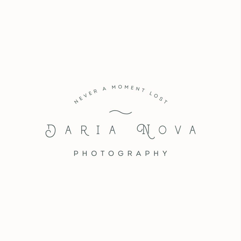 Daria Nova wedding photography logo design and brand identity by Ditto Creative | boutique branding agency in Kent for small businesses