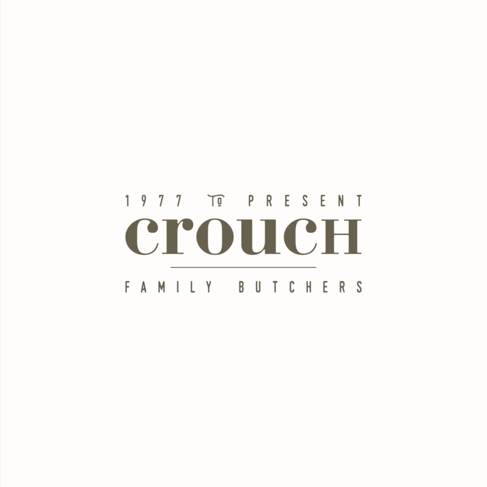 Crouch Kentish butchers logo design and brand identity by Ditto Creative   boutique branding agency in Kent for small businesses