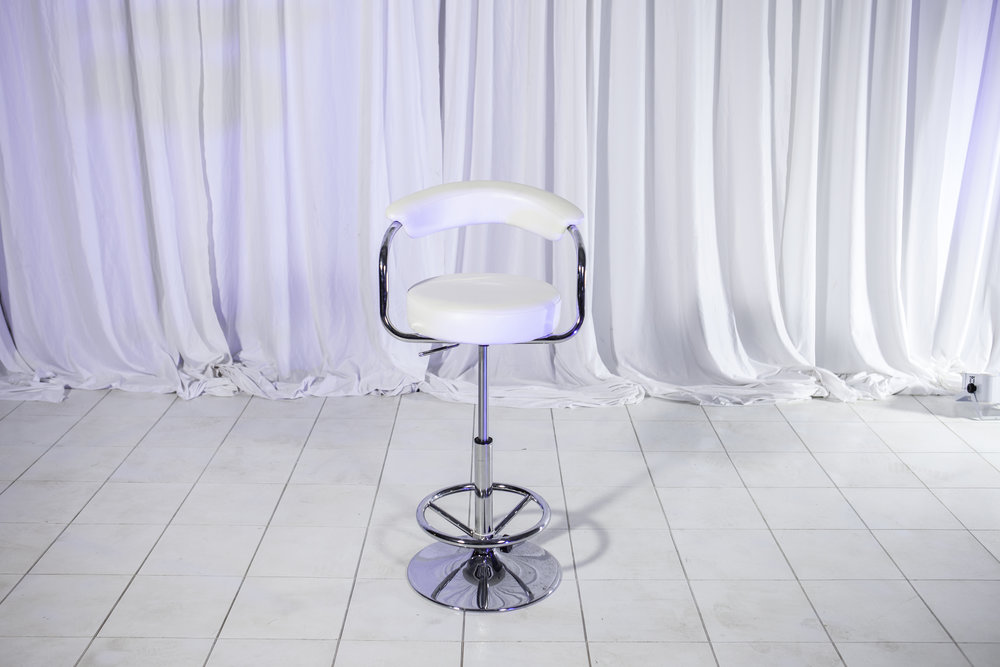 Chair- White Leather and Chrome Round stools_1.jpg