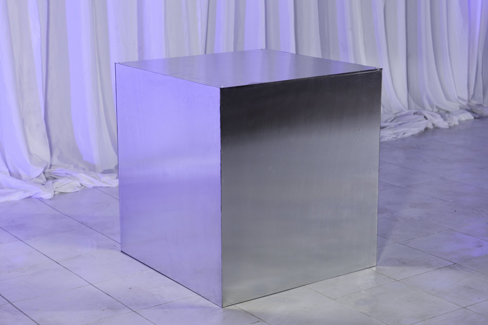 Table Base- Brushed Metal Wrapped_1.jpg