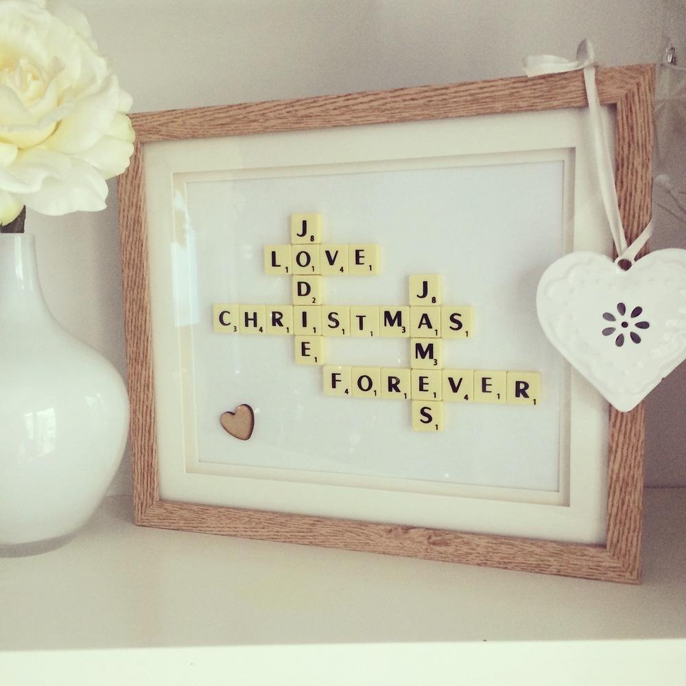 Christmas ScrabbleArt