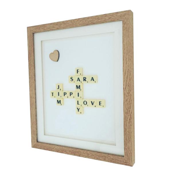 Scrabble Valentines Frame
