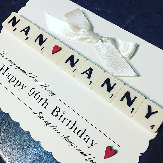 Birthday 💋🎉- Nan/Nanny 90! What a brilliant age to celebrate . . .all our cards are £6.95 this includes postage so no hidden costs. What will yours say  #personalisedcards #greetingcards #special #birthday #nan #mom #grandma #forher #gift #card #greetingcard #keepsake #90 #manyhappyreturns