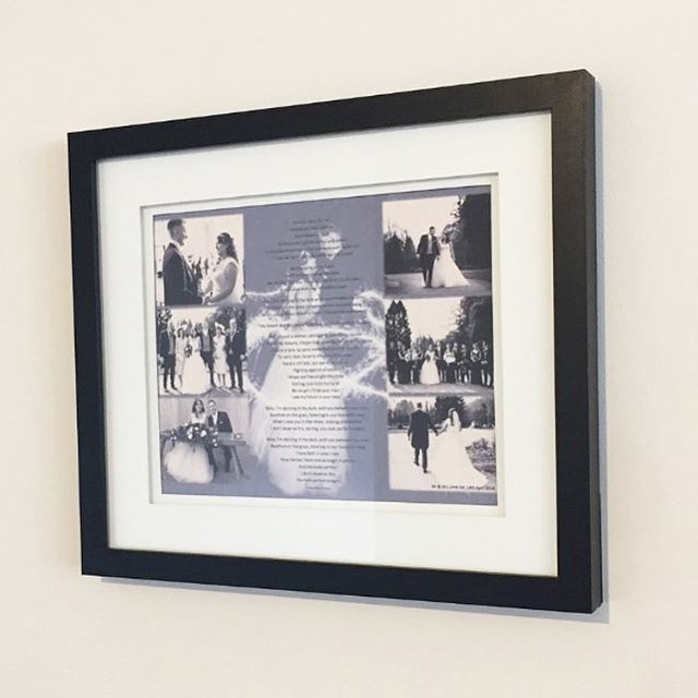 Another one of our wedding anniversary frames we can share with you 💋❤️ Bespoke photo/ wedding song. . . .  #weddingday #personalised #photo #firstdance #baby #blackandwhite #grey #white #memories #keepsake #husband #wife #present #gifts #specialtimes #wallart #contemporary