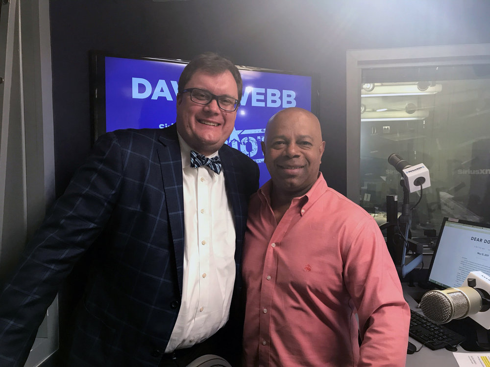 John Snyder in studio with David Webb at SiriusXM Patriot