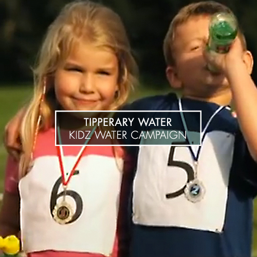 ...................................................................................................................................   The Tipperary Water 'My Bottle' campaign was a through-the-line concept that presented the range company's product suite to variety of audiences. The 'Kidz' range TV ad playfully associated water as a healthy option for school lunch boxes, focussing on the easy open lid.    VIEW THE TV AD