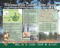 Stop 1: Welcome to the Current River Pinery (click HERE to view the full sign)
