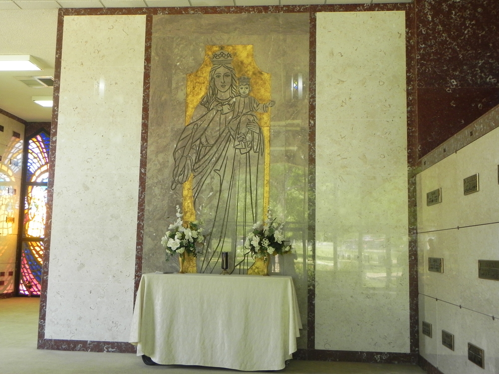 Chapel mausoleum interior
