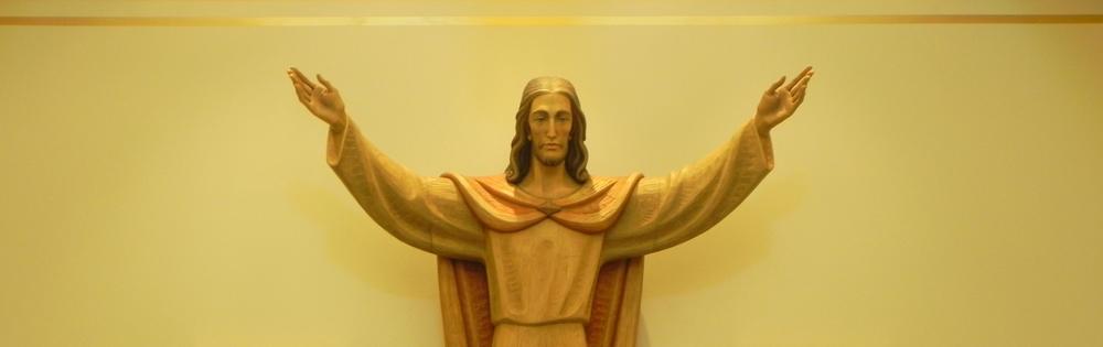 Christ statue, Chapel Columbarium interior