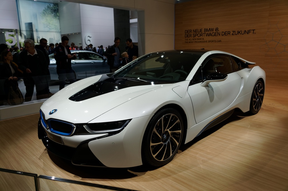 BMW's hybrid vehicle from their new i-series, the i8.