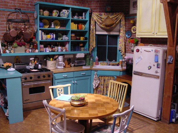 Everyone knows this famous TV kitchen. Could there BE any more painted surfaces in here?